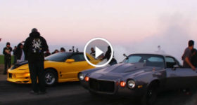 Drag Race Challenge Nitrous Camaro vs Supercharged Pontiac Trans Am WS 6