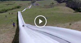 World Longest Waterslide slide homemade 2