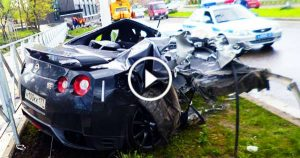 Nissan GTR Crash Compilation lesson 1