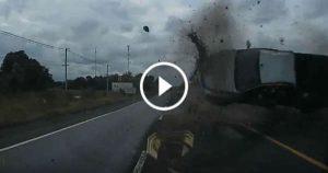 Driver Avoids Terrifying Crashes 2